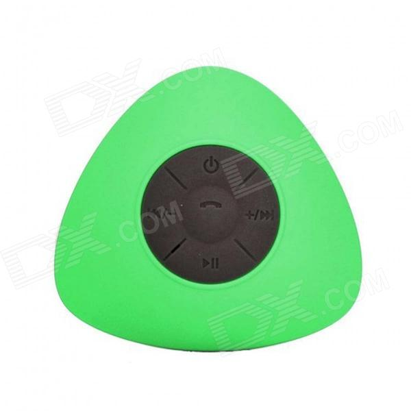 JT2681 Mini Portable Water Resistant Wireless Bluetooth V3.0 Speaker w/ Hands-free Mic - Green