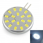 G4 2.6W 260LM 6000K 18-5730 SMD LED White Light Lamp - Silver (DC12V)