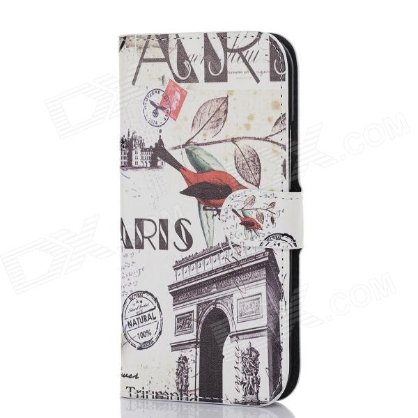 все цены на DF-005 Protective PU Leather Case with Card Slot and Stand for HTC One M8 - Multicolor онлайн