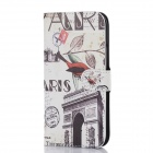 DF-005 Protective PU Leather Case with Card Slot and Stand for HTC One M8 - Multicolor