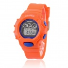O.TAGE Children's Classic Water Resistant 3-Dial Digital Quartz Wristwatch - Orange (1 x CR2016)
