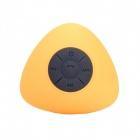 JT2681 Mini Portable Water Resistant Wireless Bluetooth V3.0 Speaker w/ Hands-free Mic - Yellow