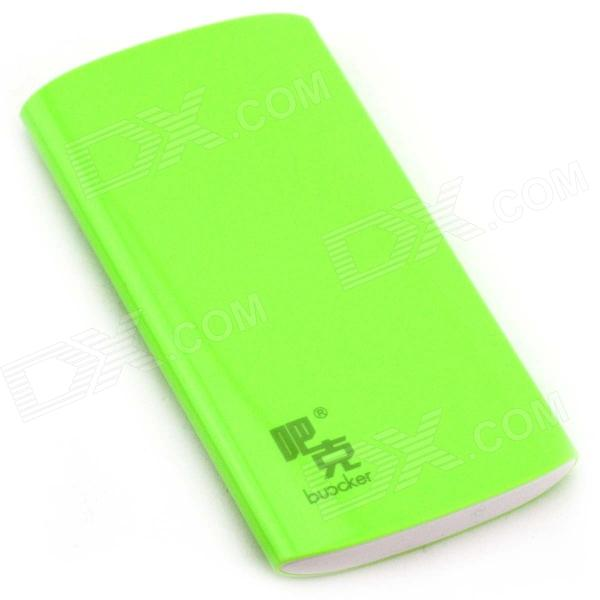 Buccker T10 ''6600mAh'' Li-polymer Battery Power Bank for Cellphone / IPAD / PSP + More - Green 5pcs 3 7v 2000mah lithium rechargeable battery cells power for pad gps psp vedio game e book tablet pc power bank 286172 306070