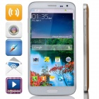 "G9000 Octa-Core Android 4.2.2 WCDMA Bar Phone w/ 5.3"" IPS, 16GB ROM, OTG, GPS - White + Golden"