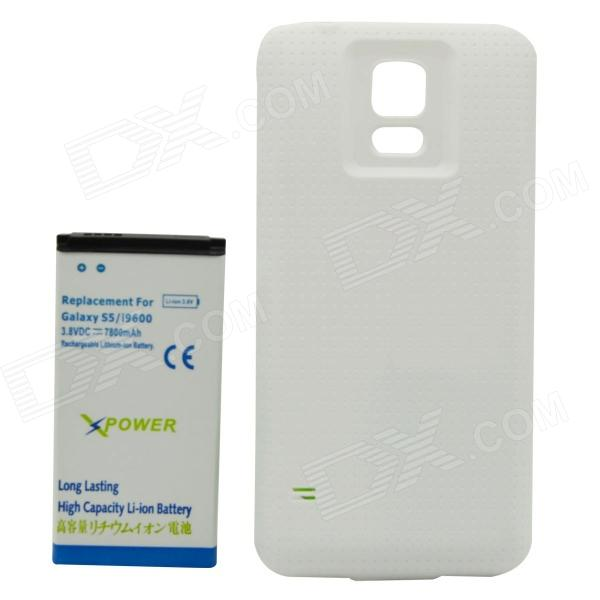 Thicken 3.8V 7800mAh Li-ion Battery + Protective Plastic Back Case for Samsung Galaxy S5 i9600