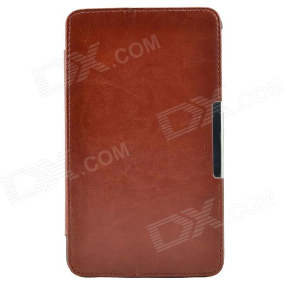 Protective PU + Plastic Case w/ Stand for 7 Asus FE7010CG - Brown protective pu plastic case w stand for 7 asus fe7010cg brown