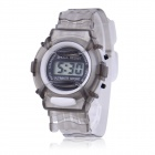 Children's Sports Style Translucent Digital Quartz Wrist Watch - Grey (1 x CR2016)