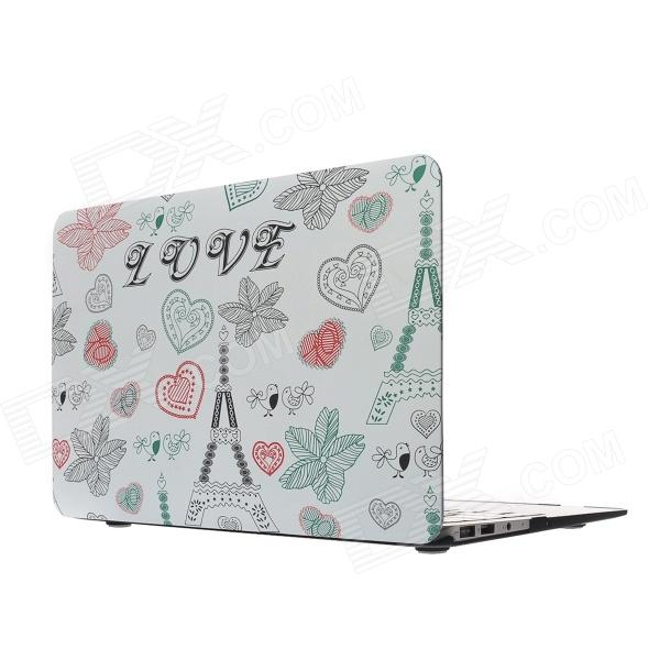 "Patrón Hat-Prince Tower Protective PC Case Full Body Mate para el MacBook Air 11,6 ""- Multicolor"