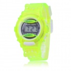 Children's Sports Style Translucent Digital Quartz Wrist Watch - Green (1 x CR2016)