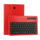 EPGATE Wireless Bluetooth V3.0  Keyboard + Protective PU Leather Case for Samsung T330 - Red