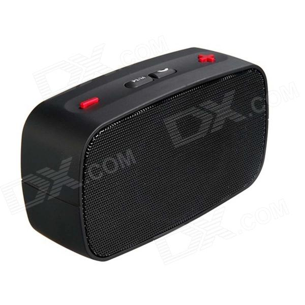 KB-200 Mini Altavoz Bluetooth V2.0 inalámbrico w / Manos libres / FM / TF / USB / 3.5mm - Negro