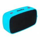 KB-200 Mini Wireless Bluetooth V2.0 Speaker w/ Hands-free / FM / TF / USB / 3.5mm - Black + Blue