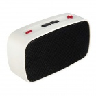 KB-200 Mini Wireless Bluetooth V2.0 Speaker w/ Hands-free / FM / TF / USB / 3.5mm - Black + White
