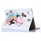 DF-004 Butterfly Pattern Protective PU + Plastic Case for Samsung Galaxy Pro 8.4 T320 - Multicolored
