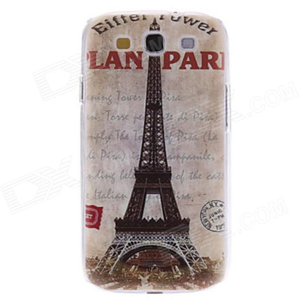 Kinston Vintage Eiffel Tower Pattern Hard Case for Samsung Galaxy S3 i9300 kinston colorful flowers and butterflies pattern plastic protective case for samsung galaxy s3 i9300
