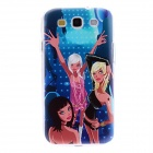 Kinston Dancing Girl Pattern Hard Case for Samsung Galaxy S3 i9300 - Black + Blue