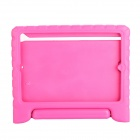EPGATE Handheld Portable Shatter-resistant Stand Rubber Case for IPAD Air - Deep Pink