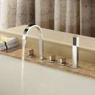 YDL-F-0553 Bathroom Chrome-plated Brass Faucet w/ Handheld Shower - Silver
