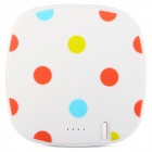 "COOMAX C3+ ""6000mAh"" Li-ion Battery USB Mobile Power Bank - White Polka Dot"