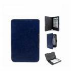 Protective PU Leather Flip Magnetic Case for Pocketbook Touch 622 / 623 - Dark Blue