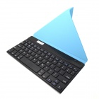 "BK169 9"" Bluetooth V3.0 65-Key Keyboard w/ PU Leather Case for Samsung + More - Light Blue"