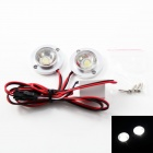Car Decorative 50lm 6500K White Light Emergency Strobe Flash Light w/ Built-in IC (DC12V)