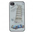 Kinston kst01625 3D Leaning Tower of Pisa Pattern Protective Plastic Back Case for IPHONE 4 / 4S