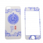2-in-1 Protective Tempered Glass Screen Protector Sticker for IPHONE 5 / 5S - Blue