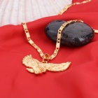 KCCHSTAR Eagle Style Copper + 24K Gold Plated Pendant Necklace - Golden