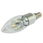 Marsing LZ-02 E14 5W 480lm 6000K 10-SMD 5730 LED White Candle Lamp - White + Grey (AC 100~240V)
