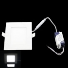 SKLED S-12 12W 980lm 6000K 60-SMD 3528 LED White Light Square Ceiling Lamp - White (AC 85~265V)
