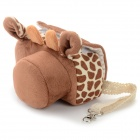 Just Now Lovely Deer Style Protective Flannelette + Cotton Bag Case for Sony A5000 + More - Brown