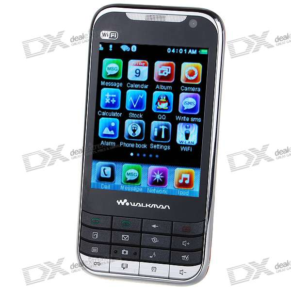 "K8 2,8 ""Touch Screen Dual-SIM-Dual-Standby Quadband GSM Netzwerk TV Cell Phone w / Wifi + Java (Red)"