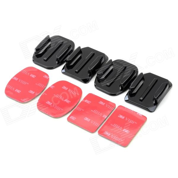GP10 Square / Arc Mount Base w/ Tapes for Gopro Hero 1 / 2 / 3 / 3+ / DV - Black + Red (4 Sets) free shipping 10pcs mmpq2369