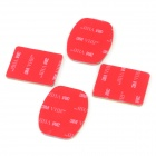GP10 Square / Arc Mount Base w/ Tapes for Gopro Hero 1 / 2 / 3 / 3+ / DV - Black + Red (4 Sets)