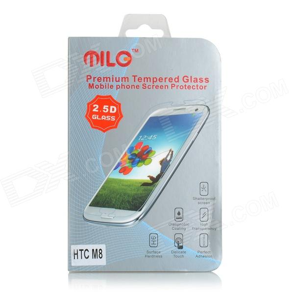 MILO Clear AGC Tempered Glass Screen Protector Guard Film for HTC M8