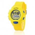 O.TAGE Children's Water Resistant 3-Dial Rubber Band Digital Wristwatch - Yellow (1 x CR2016)