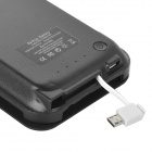 "5V ""5500mAh"" Li-ion Battery Power Bank Case w/ Stand + Charging Cable for HTC One 2 / M8 - Black"