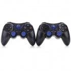 MouseKing SW-0002 Dual-Shock Bluetooth V4.0 Controllers for PS3 + More - Black + Blue (2 PCS)