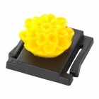 Universal Flower Ornament Camera ABS Hot Shoe Cover for Canon + Nikon + More - Black + Yellow