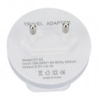 Adaptateur d'alimentation USB double shuffle MP3 w / LED indicateur pour IPHONE / IPAD / IPOD / Samsung (100 ~ 240V)