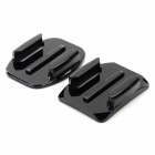 GP19 Universal Self-adhesive Helmet Mounted Bracket Holder Set for GoPro Hero 3+ / 3 / 2 / 1 - Black