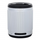 MOMI Portable 3.5mm 2.0-CH Bluetooth V3.0 Speaker w/ Microphone / TF - Silvery White + Black