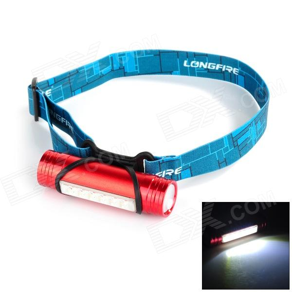 FANDYFIRE L811 3W 100lm 6-LED 3-Mode Cool White Light Headlamp - Red (3.6~4.5V)
