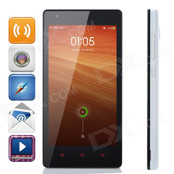 Xiaomi Redmi 1S Android 4.3 Quad-core WCDMA Bar Phone w/ 4.7 Screen, Wi-Fi and GPS - White