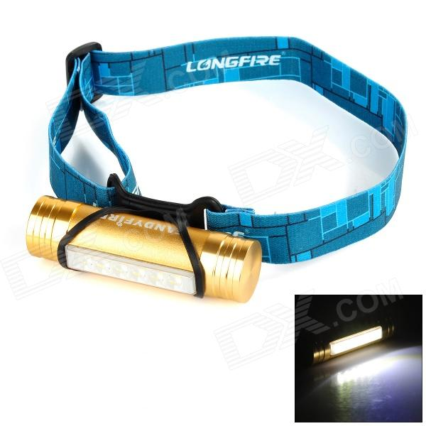 FANDYFIRE L811 3W 100lm 6-LED 3-Mode Cool White Light Headlamp - Golden (3.6~4.5V)