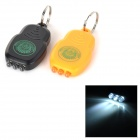Portable Mini 3-LED White Light Keychains - Black + Orange (2 PCS / 2 x CR2026)