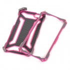 R-JUST Protective Aluminum Alloy Back Case + Screen Protectors for IPHONE 5 / 5S - Grey + Pink