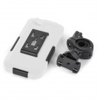 Protective Waterproof Shock-proof Full Body Case for IPHONE 5 / 5S w/ Bicycle Holder - White + Black