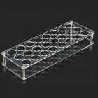 YJ-001 0.3cm 24-hole Rectangle Shaped Acrylic Display Stand Tray for Pen / Lipstick / Cigarette